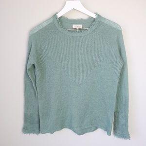 NWOT Lucky Brand Green Long Sleeve Sweater